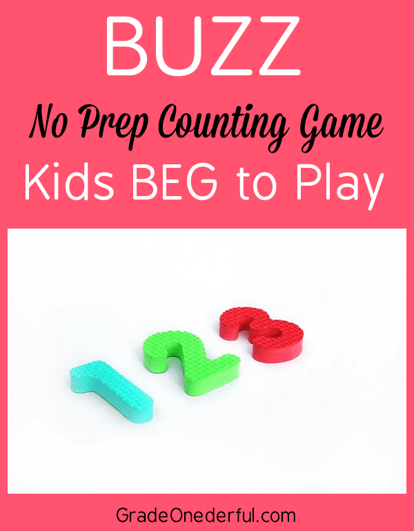 Fun K-2 math game to practice rote counting skills. You\'ll get directions and tips for the best math game ever!