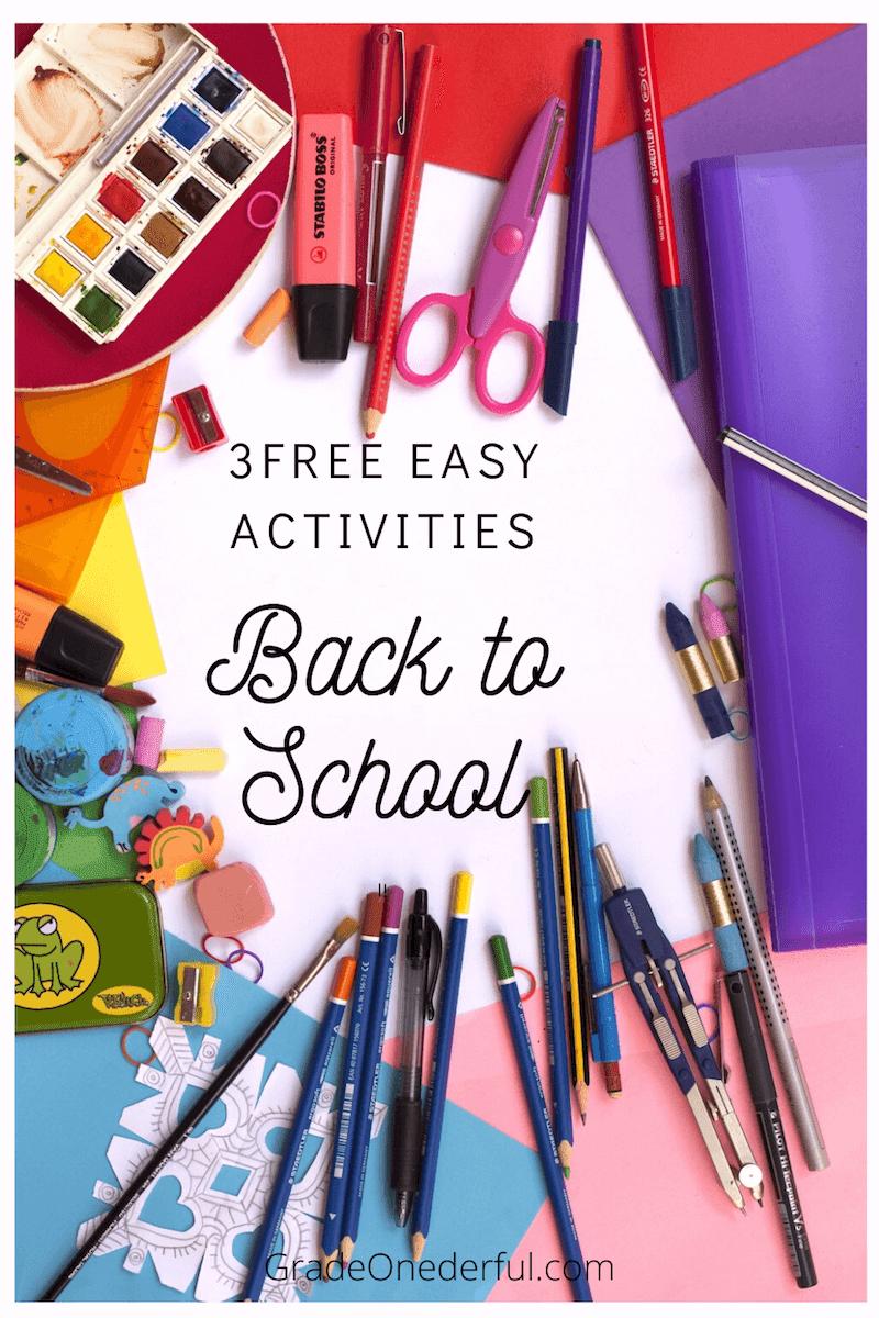 First Days of School. Three fun ideas for beginning your school year. #backtoschool #firstdaysofschool