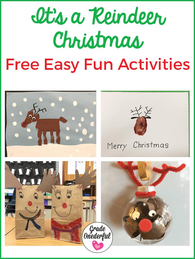 Lots of reindeer art activities for primary classes