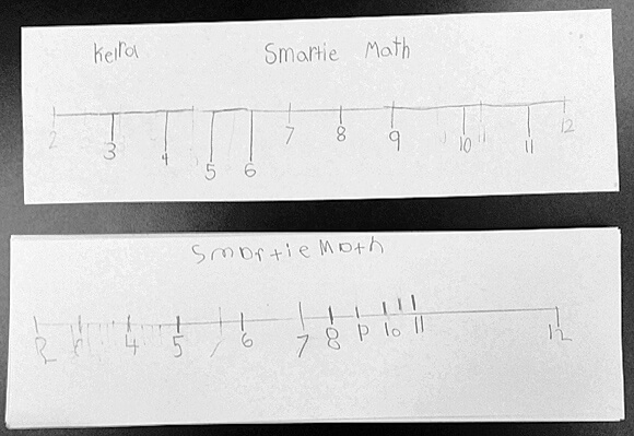 Smartie Math Game Board by GradeONEderful.com