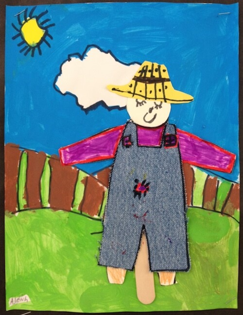 Scarecrow art for young children. GradeONEderful.com