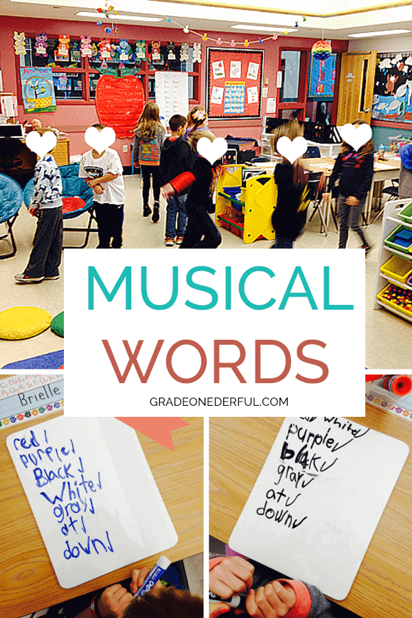 Musical Words: A fun way to practice spelling sight words in Grade 1.