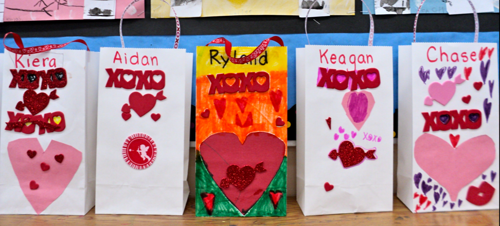 Two Valentine books, a Valentine poem freebie and some Valentine bag ideas.