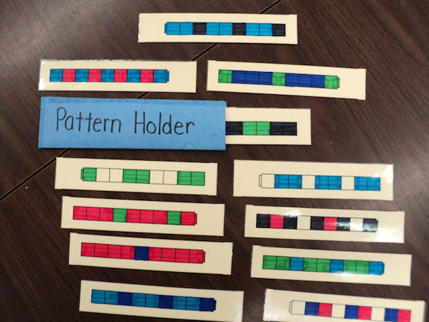 I use Pattern Trains during daily calendar time to teach patterns to Kindergarten and 1st Grade students. Included are directions and a free template for making your own Pattern Train holder.