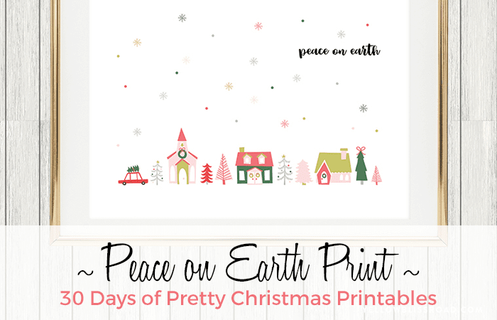 Peace on Earth Free Print and Card