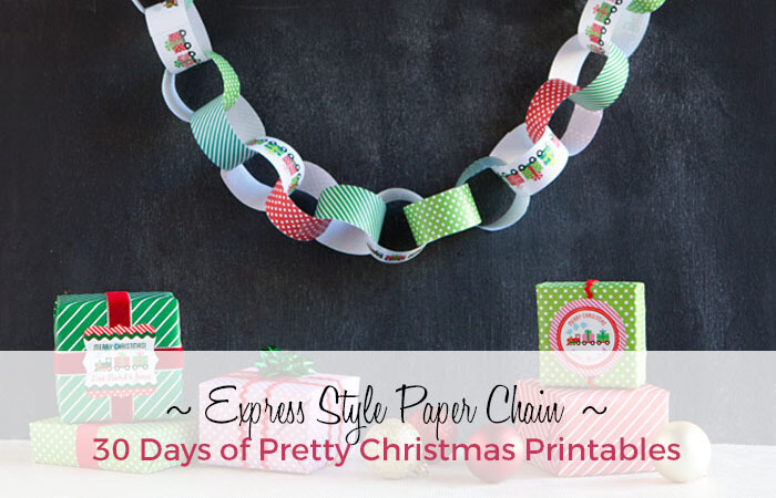 Stylish Holiday Paper Chains