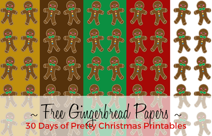 Gingerbread Papers