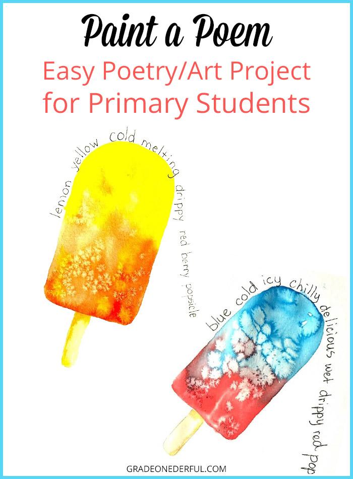 Paint a Popsicle Poem