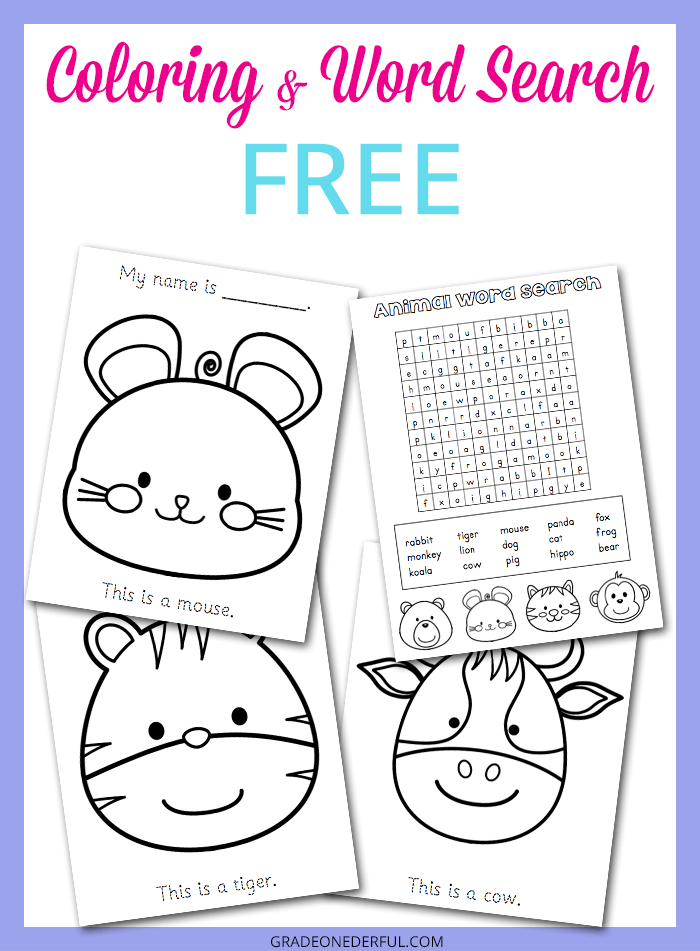 Free Animal Activity Pages