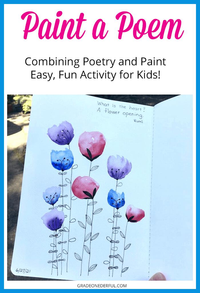 Paint a Flower Poem