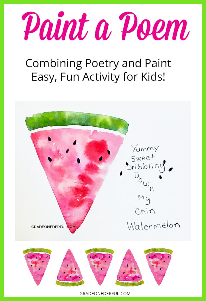 Combining a free-form watermelon poem with a watermelon painting
