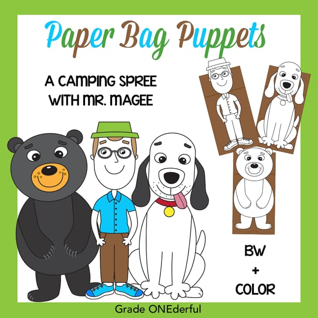 Puppet Pictures of Mr. Magee Dee Bear